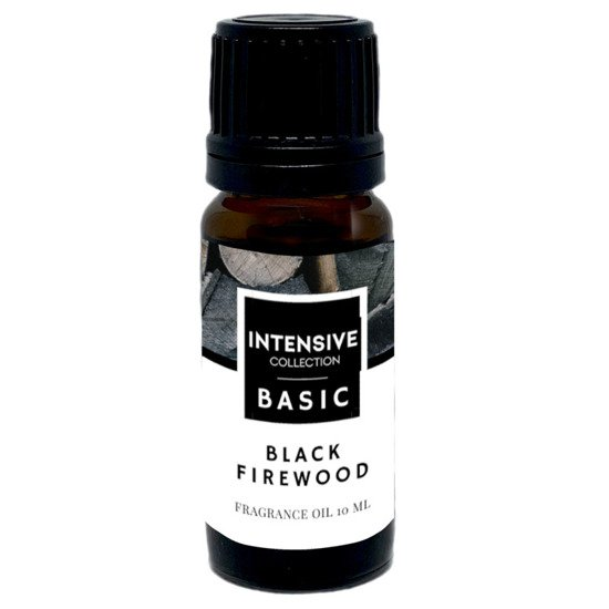 Intensive Collection Amber Basic fragrance oil in natural glass bottle 10 ml - Black Firewood
